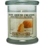 VANILLA POUND CAKE STATUS 12-OZ. ALL NATURAL SOY CANDLE