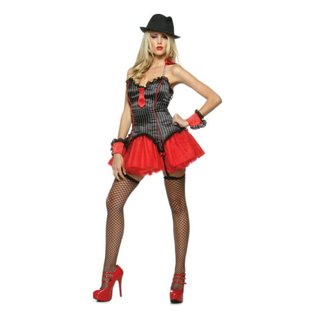 Lip Service New Womens Sexy Mafia Mob Gangster Halloween Costume