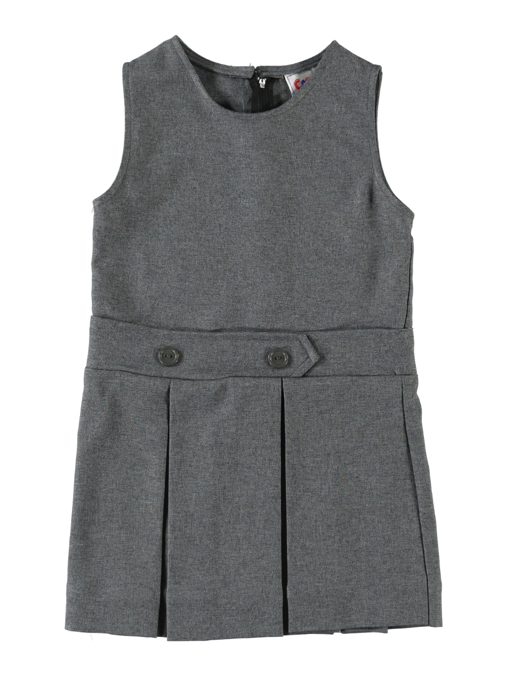 Cookie's Brand Little Girls' Bib Front Jumper with Kick Pleats (Sizes 2 - 6X)