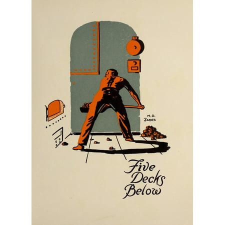 Lucky Bag 1919 Five Decks Below Canvas Art   Md James  18 X 24