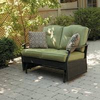 Better Homes & Gardens Providence 2-Person Glider Loveseat, Green