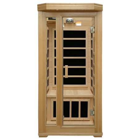 1 person crystal sauna hemlock 6 pure carbon heaters far infrared am fm cd new. Black Bedroom Furniture Sets. Home Design Ideas