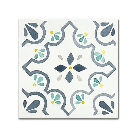 Trademark Fine Art 'Garden Getaway Tile II White' Canvas Art by Laura Marshall for $<!---->