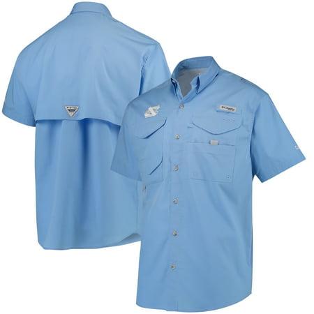 North Carolina Tar Heels Columbia PFG Bonehead Shirt - Carolina Blue - Columbian Blue