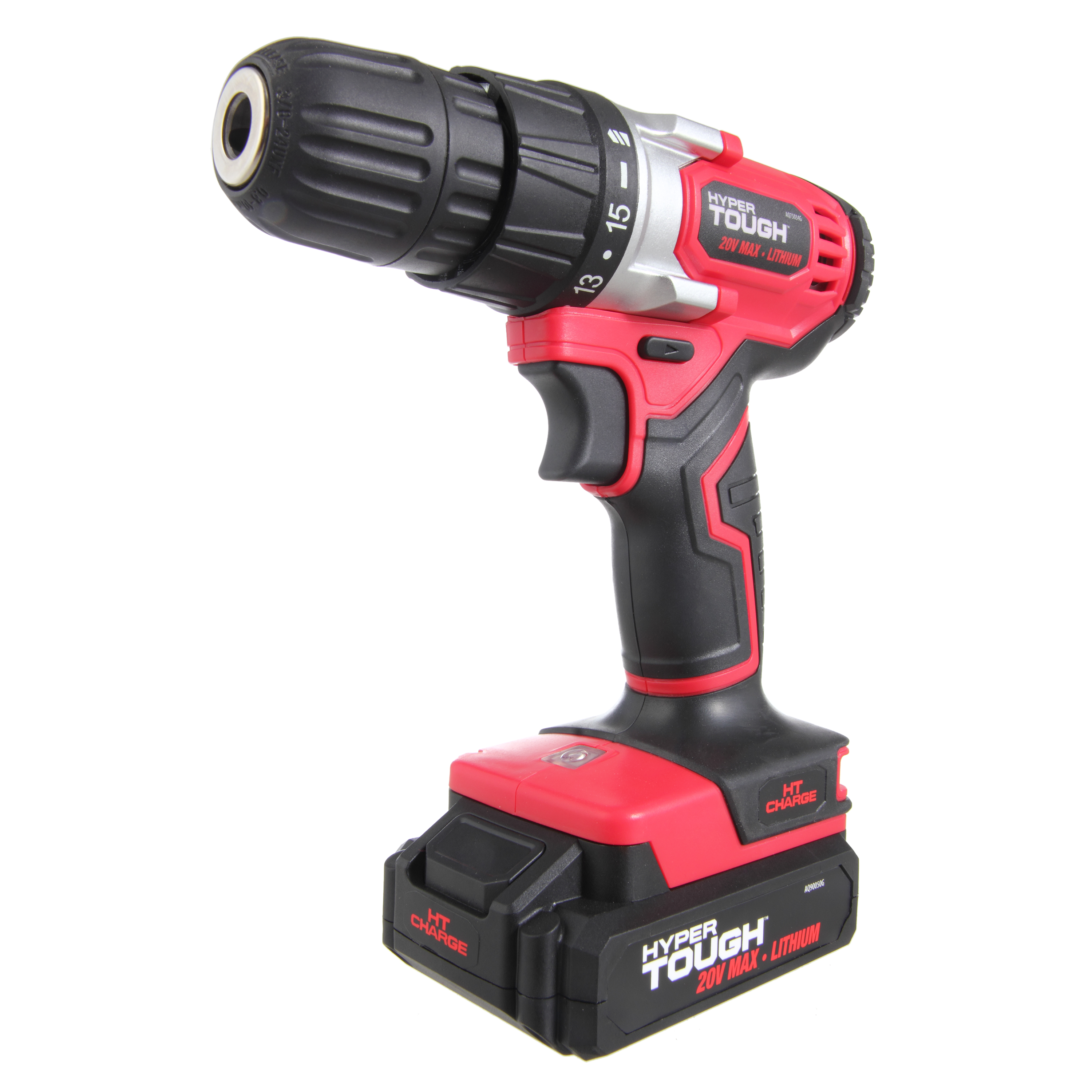 Hyper Tough AQ75034G, HT Charge 20V MAX Lithium Ion Cordless Drill   Driver by Test Rite Intl