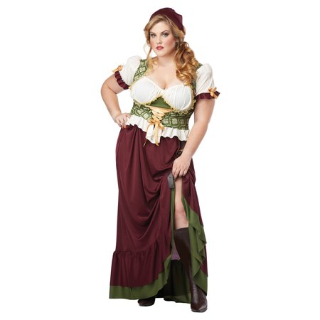 Plus Size Renaissance Wench Costume by California Costumes 01705