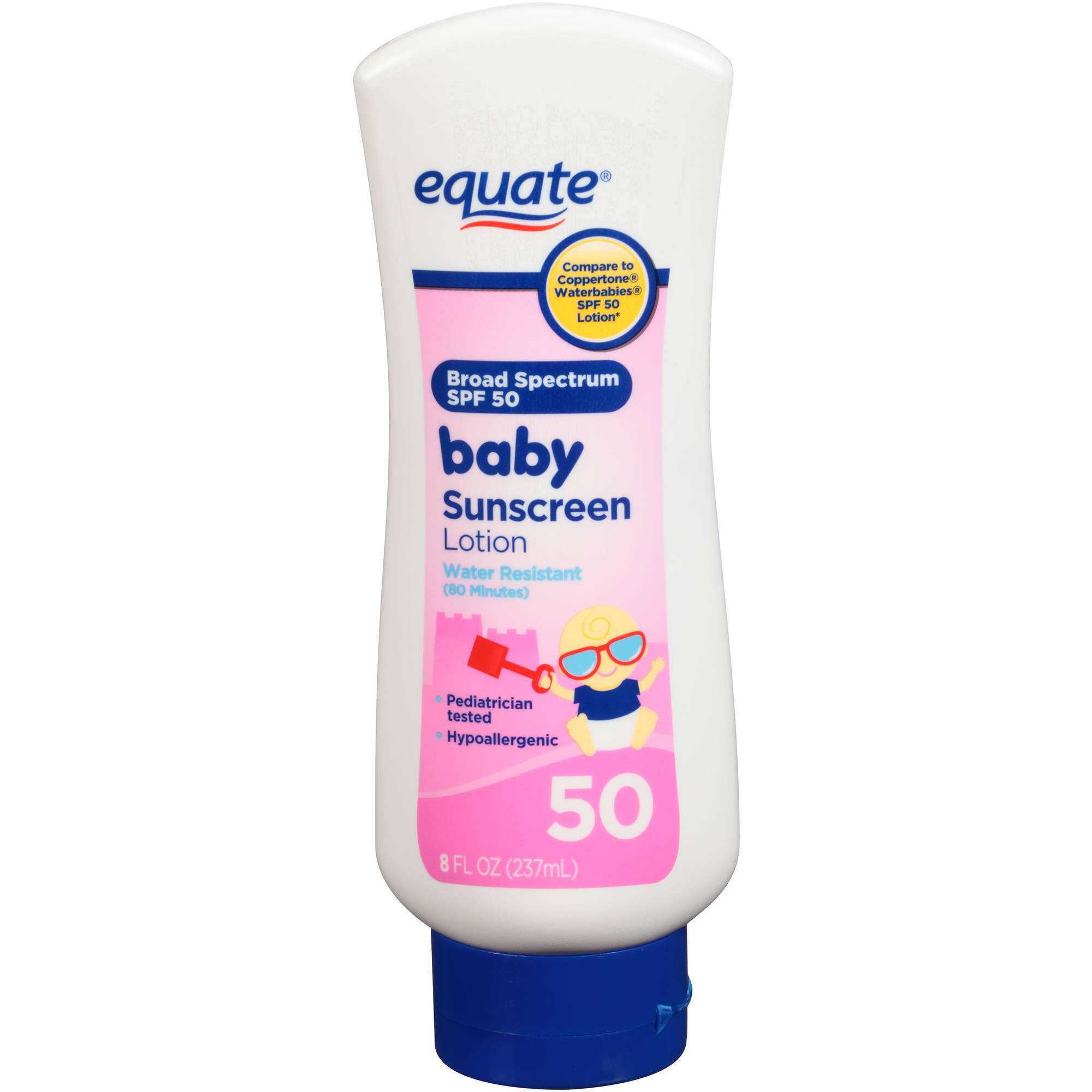 WalMart Fruit Of The Earth Equate Baby Sunscreen Lotion, Spf 50