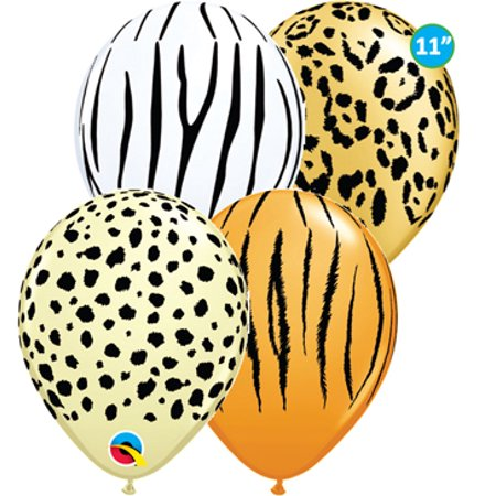 Safari Pinata (Qualatex Safari Assortment Biodegradable Latex Balloons, 11-Inch)