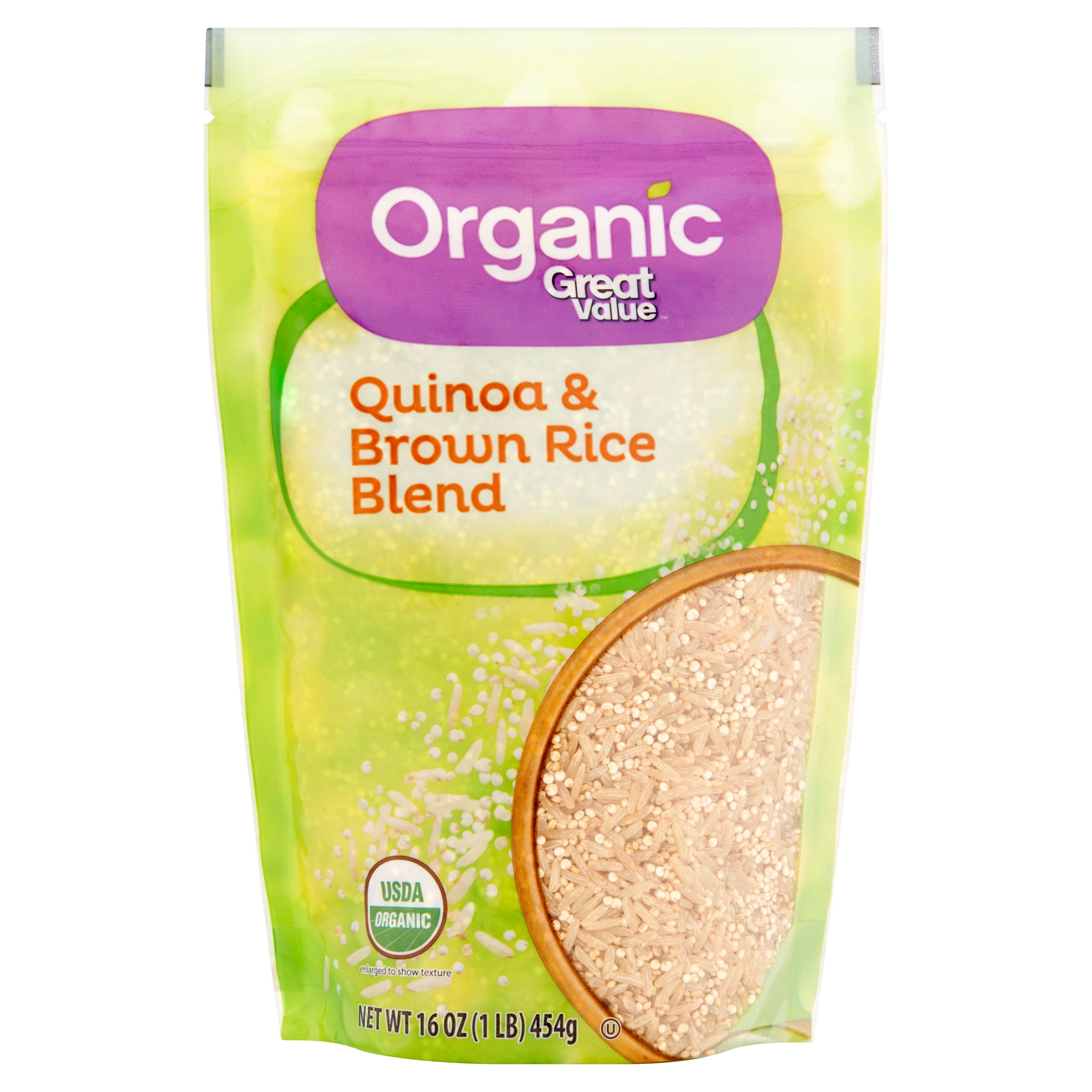 Great Value Organic Quinoa & Brown Rice Blend, 16 Oz. by Great Value Organic