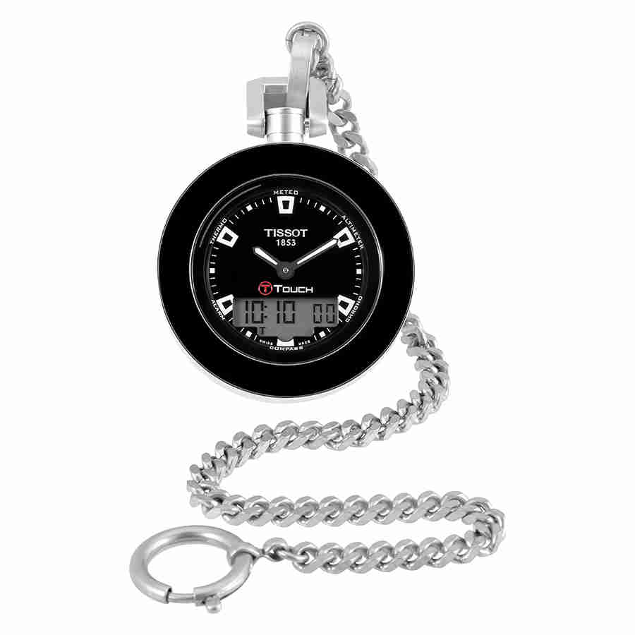 Tissot Pocket Touch Black Dial Mens Pocket Watch T8574201...