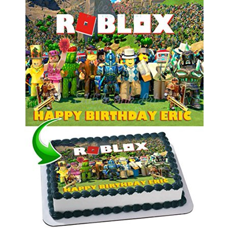 Fabulous Roblox Edible Cake Topper Personalized Birthday 1 4 Sheet Personalised Birthday Cards Arneslily Jamesorg