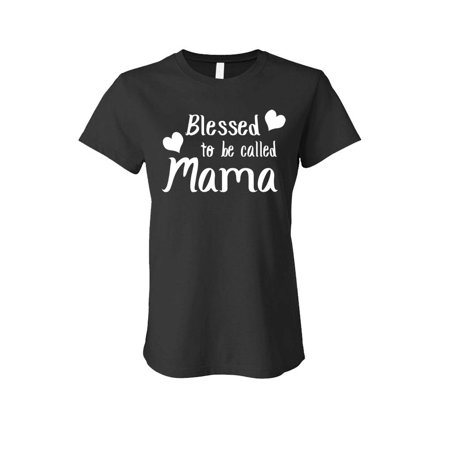 BLESSED TO BE CALLED MAMA - mothers day - LADIES Cotton T-Shirt (Large,Black) - Blessed Day