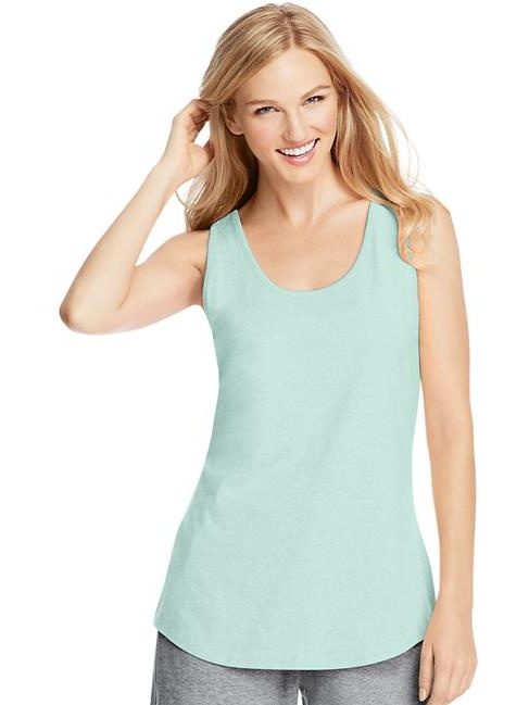 Hanes 78715942281 X-Temp Womens Performance Tank, Clean Mint - Extra Large