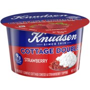 Knudsen Low Fat 2% Milkfat Cottage Cheese Doubles with Strawberry Topping, 4.7 oz Cup