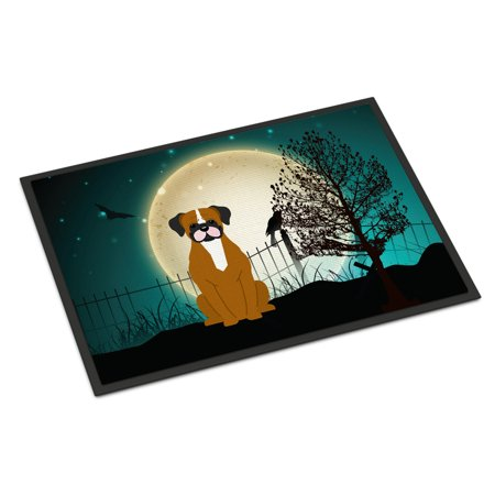 Halloween Scary Flashy Fawn Boxer Door Mat (Halloween Doormat With Scary Sounds)