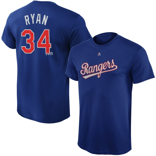 Nolan Ryan Texas Rangers Majestic Youth Cooperstown Collection Name & Number T-Shirt - Royal