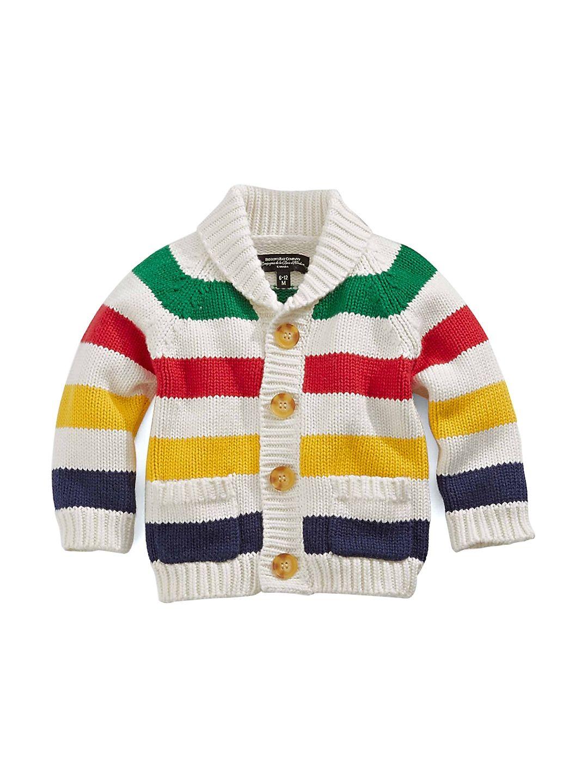 Striped Knit Baby Cardigan