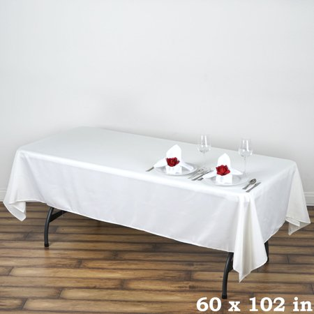 Balsacircle 60x102 polyester rectangular tablecloth for 102 inch table runners