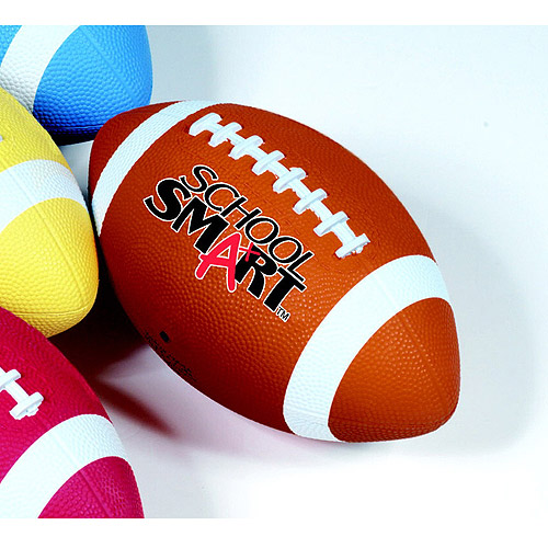 School Smart Rubber Football, Traditional Tan, Multiple Sizes
