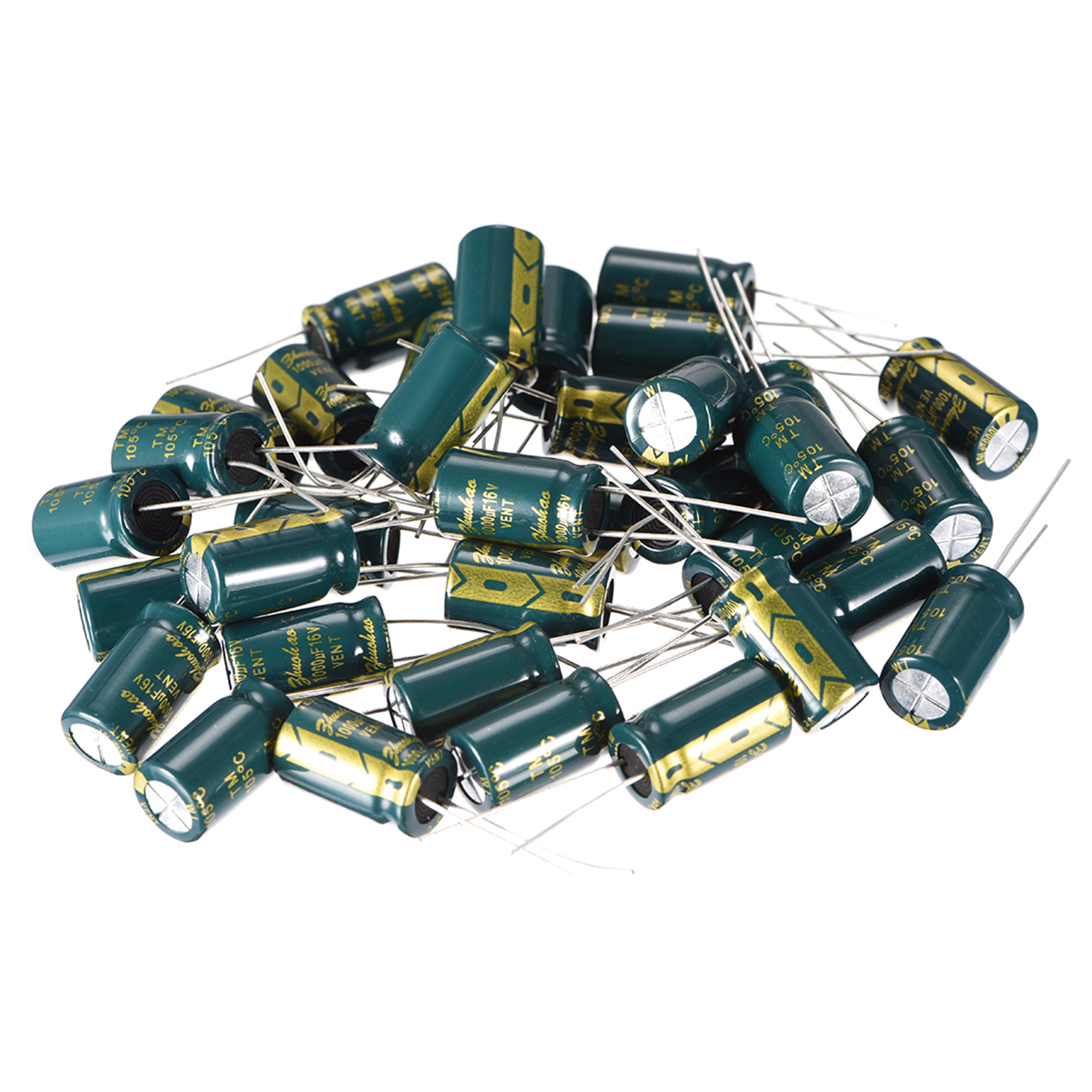 10pk Low Impedence Electrolytic Capacitor 1000uf 16v