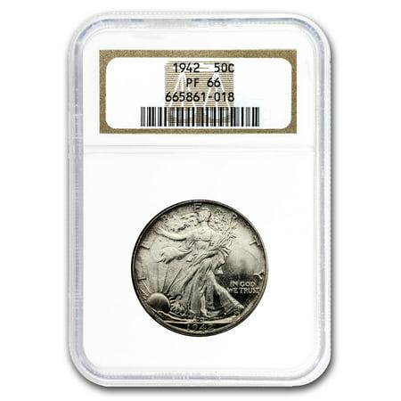 1942 Walking Liberty Half Dollar Proof-66 NGC