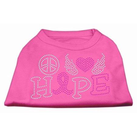 Mirage 52-97 LGBPK Love Hope Breast Cancer Rhinestone Pet Shirt Brt Pink Lg for $<!---->