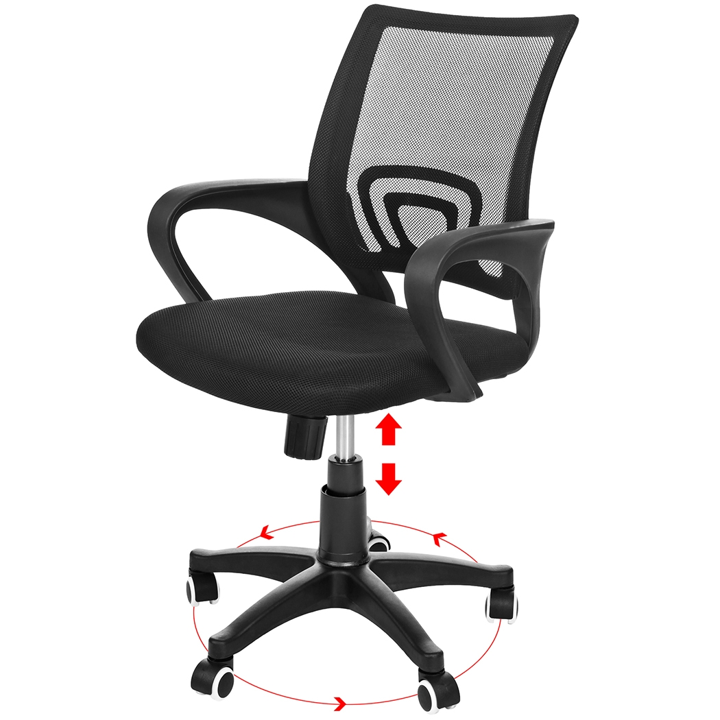 Ancheer Mid Back Mesh Ergonomic Computer Office Swivel Chair Mesh Padded Seat Adjustable Executive Task Chair