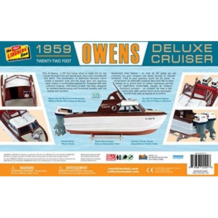 Lindberg 222 Owens 1959 Deluxe Cruiser 1/25 Scale Plastic Model Kit (Deluxe Model Hobby)