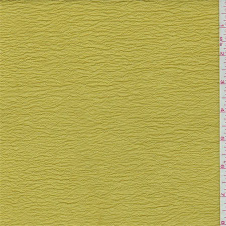 Dill Green Shimmer Crinkled Crepe, Fabric Sold By the Yard ()