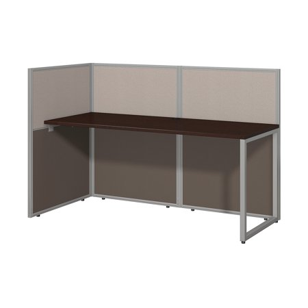 Decorate Work Cubicle For Halloween (EOD160MR-03K Bush Business Furniture Easy Office Collection Cubicle Workstations & Walls 135 Lbs Weight Capacity Mocha Cherry 60 W Straight Desk Open)