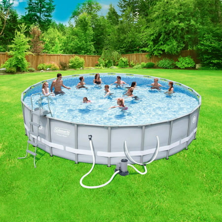 Coleman power steel 22 39 x 52 frame swimming pool set for Swimming pool supplies walmart