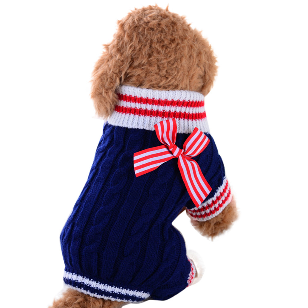 Pet Dog Sweater Dog Clothes Small Dogs Winter Sweaters Rompers