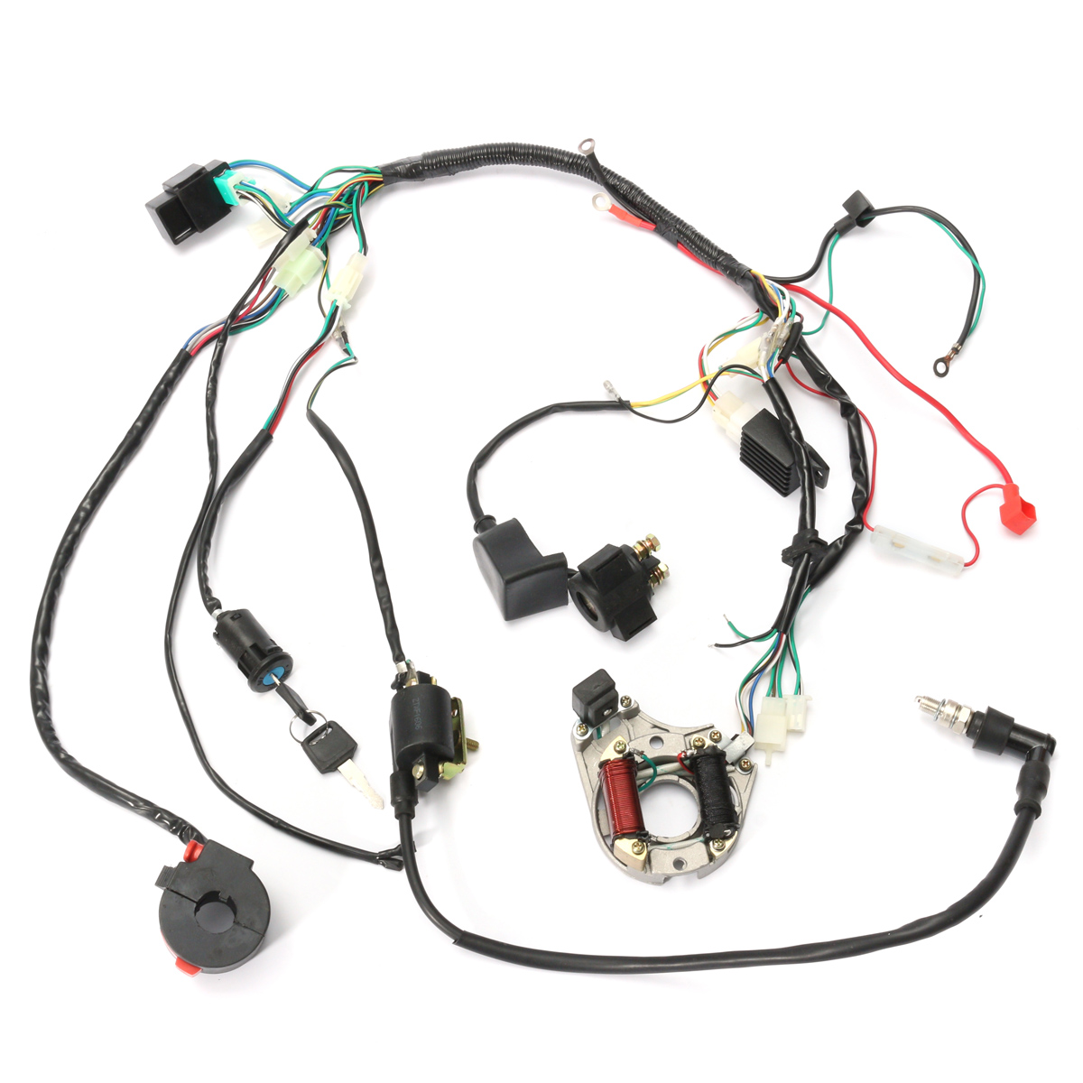 WIRE HARNESS WIRING CDI ASSEMBLY For 50 70 90 110 125CC ATV QUAD COOLSTER