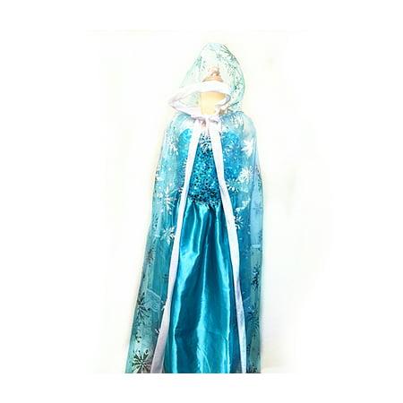 Costume Girls Snow Queen Hood Cape ()