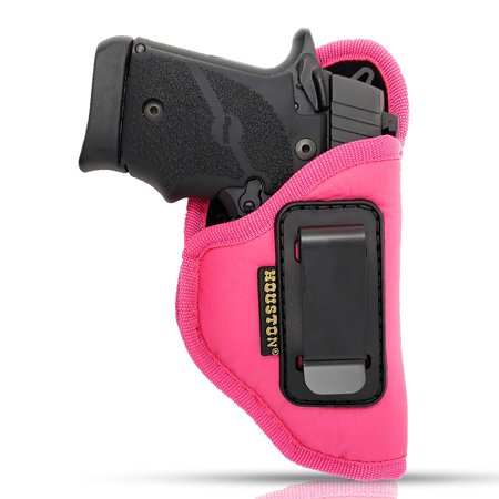 IWB Woman Pink Gun Holster - Houston - ECO LEATHER Concealed Carry Soft | Suede Interior for Protection Fits: GLOCK 42,SIG P 938, 1911 3