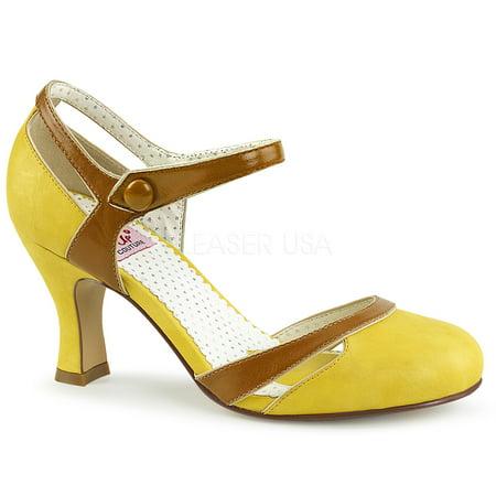 FLAPPER-27, 3'' Kitten Heel Dorsay Pump Sandal - Flapper Shoes Cheap