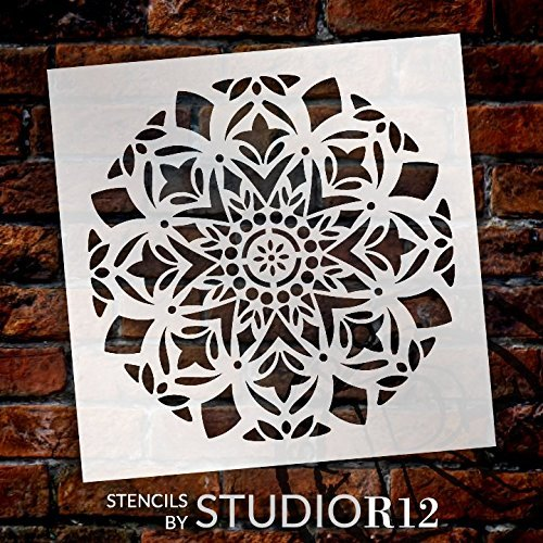 Mandala 14 section stencil Stencil for furniture layering scrap booking and signage No 1 unique wall art tiling
