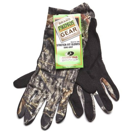 - Primos Stretch-Fit Gloves Sure-Grip & Extended Cuff, Mossy Oak New Break-Up, 6396