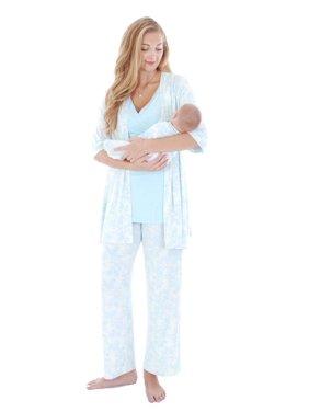 Everly Grey Roxanne 5 PC Mom & Baby Maternity Nursing Pajama Set
