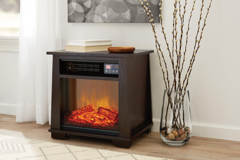 Charmant Mainstays Infrared Electric Space Heater, Dark Oak   Walmart.com