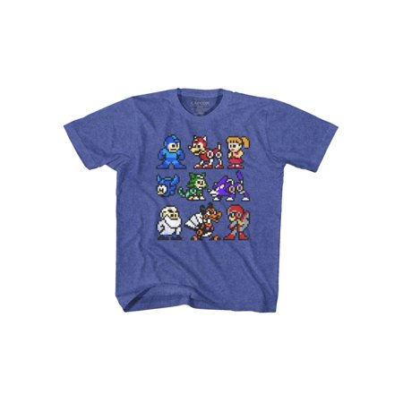 Mega Man Capcom Video Game The Cast Whole Gang Crew Vintage Youth T-Shirt Tee