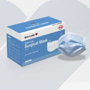 Masque chirurgical jetable BYD Protection ASTM niveau II Masque facial à 3 couches PPE 50 pièces
