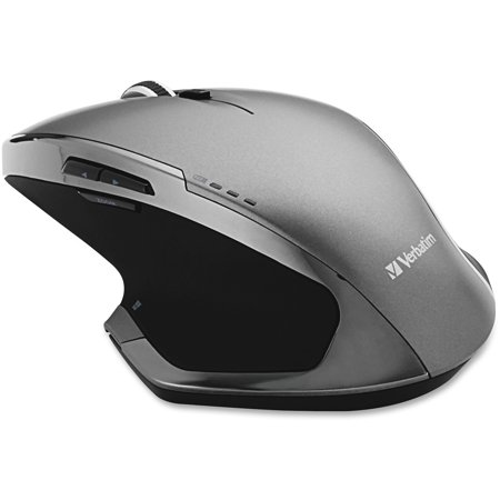 - Verbatim, VER98622, Wireless Desktop 8-Button Deluxe Mouse, 1, Graphite