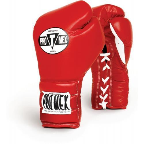 ProMex PRO TRAINING LACE GLOVES Red Size: 16 oz
