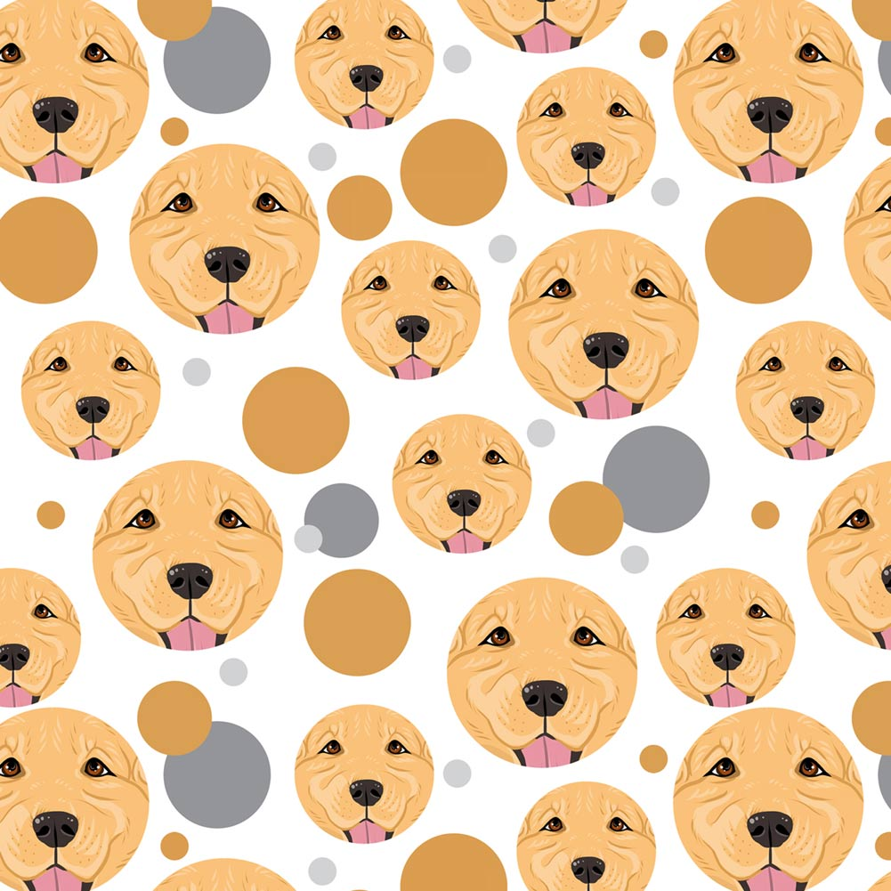Golden Retriever Face Pet Dog Premium Gift Wrap Wrapping Paper Roll