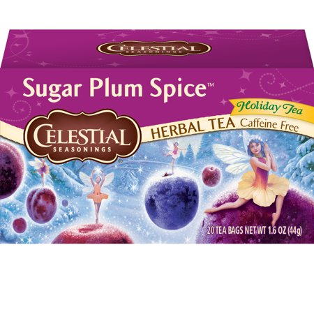 Celestial Seasonings Herbal Tea, Sugar Plum Spice, 20 - Tea Delicious Plum