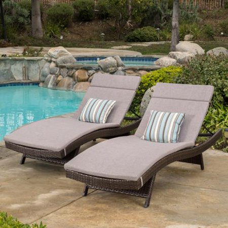 Sydney Outdoor Brown Wicker Adjustable Chaise Lounge With