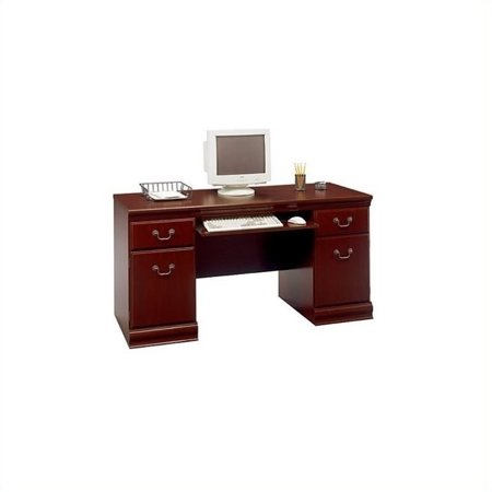 Kingfisher Lane Wood Executive Credenza in Harvest Cherry