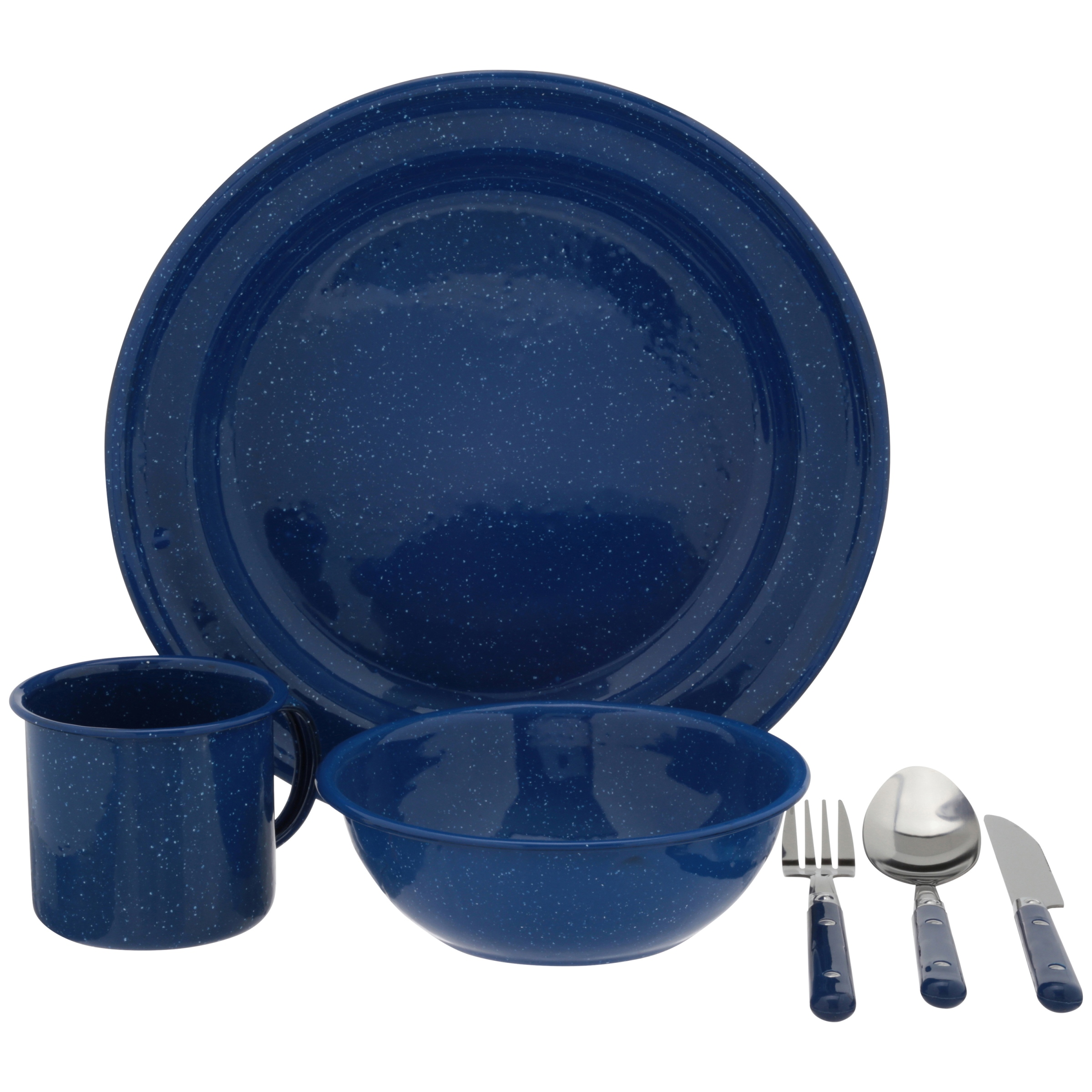 Ozark Trail 24-Piece Dinnerware Set, Blue