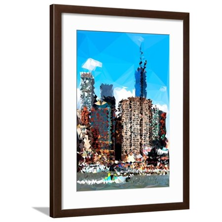 Low Poly New York Art - NYC Touch Framed Print Wall Art By Philippe